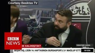 Istanbul Besiktas: Stadium blast captured on TV - BBC News
