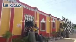بالفيديو: افتتاح اعمال اعادة اعمار عزبة النصارى بالمنيا