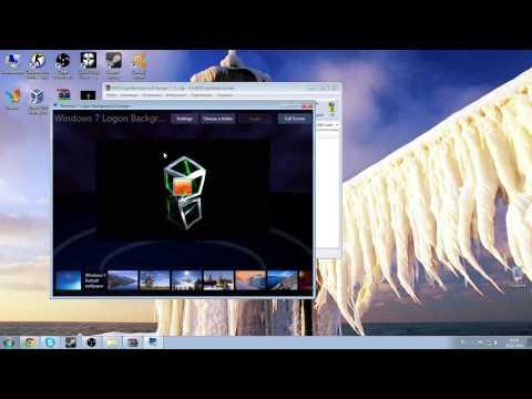 Как поменять картинку при входе в windows 7