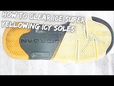 How To Clear Ice Super Yellowing Icy Soles EASY