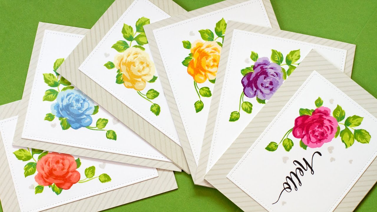 Mass Producing Stamped Cards MISTI Stamp Tool YouTube