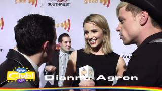 Dianna Agron @ GLAAD MEDIA AWARDS on Red Carpet - Interview