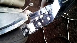 Ремонт узлов крепления  бампера машины Ford Fision.