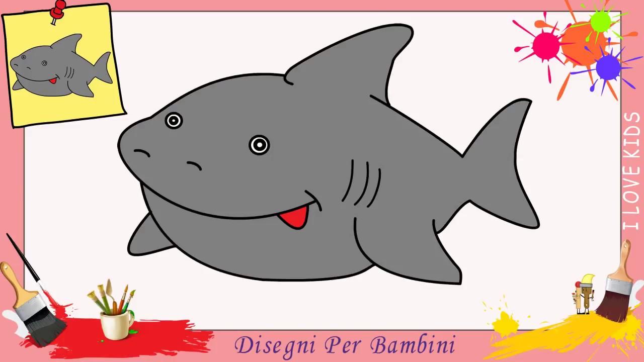 Disegni di squali facili per bambini come disegnare uno for Squalo da colorare per bambini
