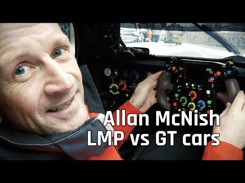 Audi R18 e-tron Quattro vs R8 LMS cup car with Allan McNish