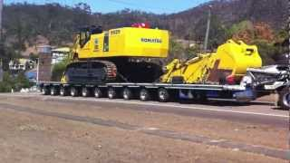 Mactrans Heavy Haulage climbing a big hill in far north qld with some help