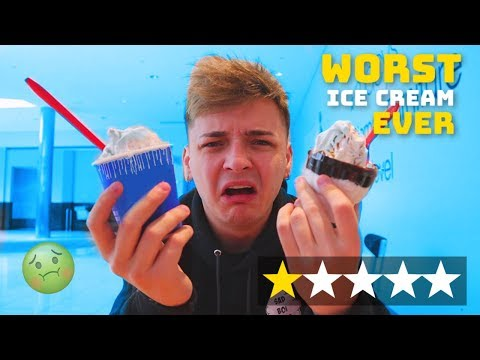 Eating At The WORST Reviewed Ice Cream Parlor In My City! (1 STAR)