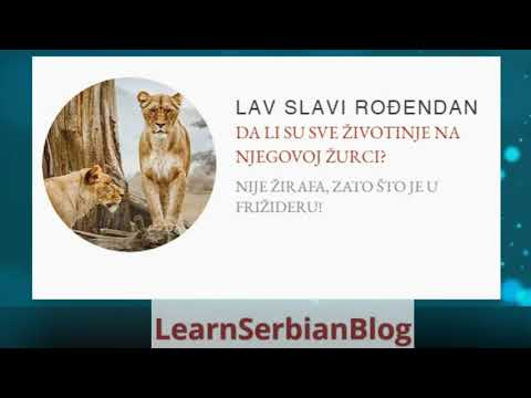 Learning Serbian with Jokes - Lesson 4