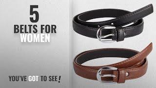 Top 10 Belts For Women 2018 Krystle Girl 39 s Combo Set Of 2 PU leather belts Black amp Brown