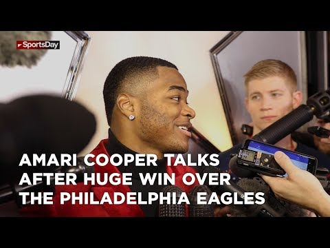 Amari Cooper talks after huge win over the Philadelphia Eagles