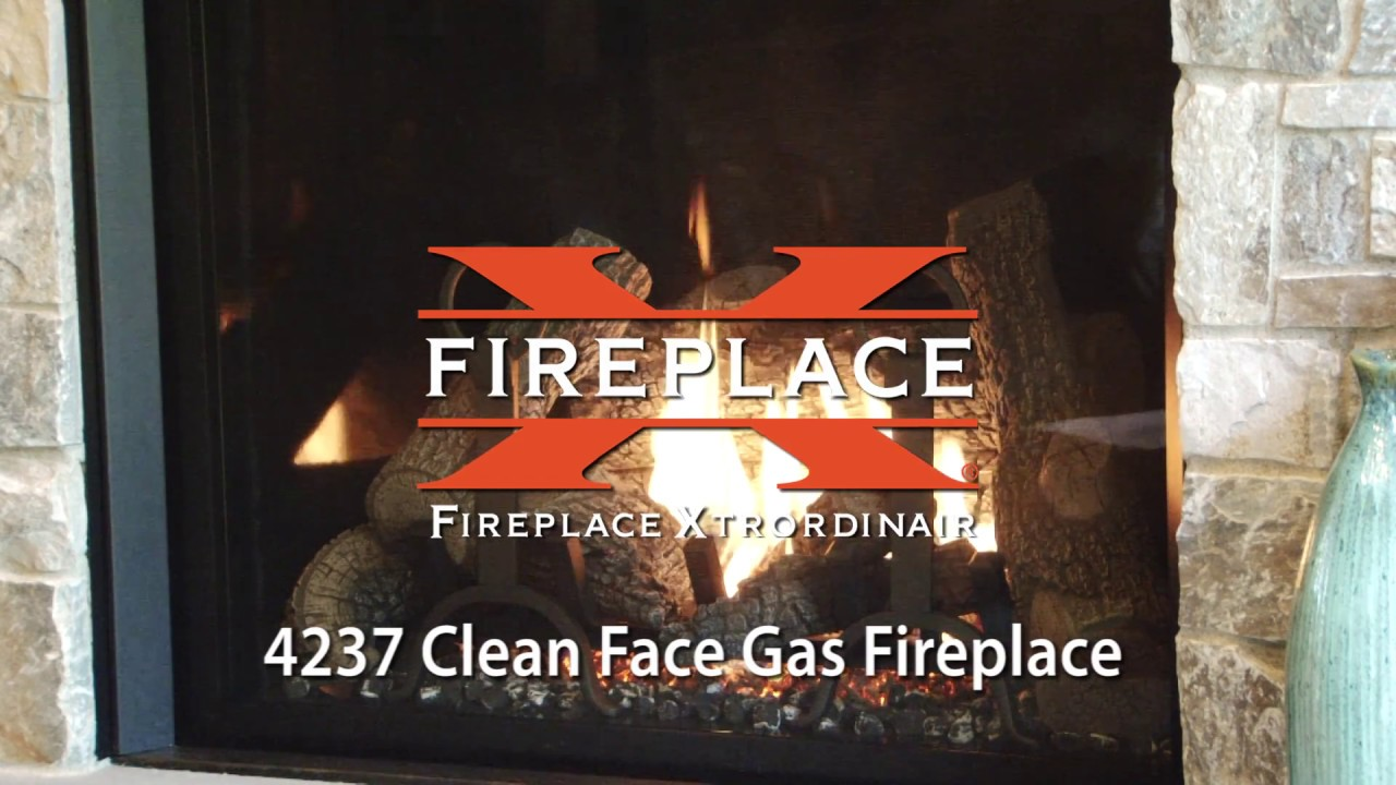 Fireplace xtrordinair 4237 clean face gas fireplace youtube for Fireplace xtrordinair 4237