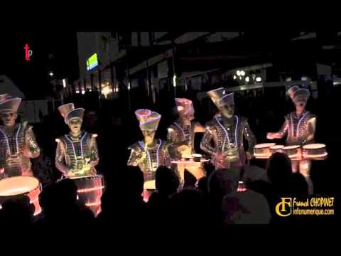 Our entertainment agency performed our LED street show in France