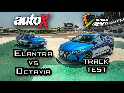 2017 Hyundai Elantra vs Skoda Octavia Review Track Test autoX