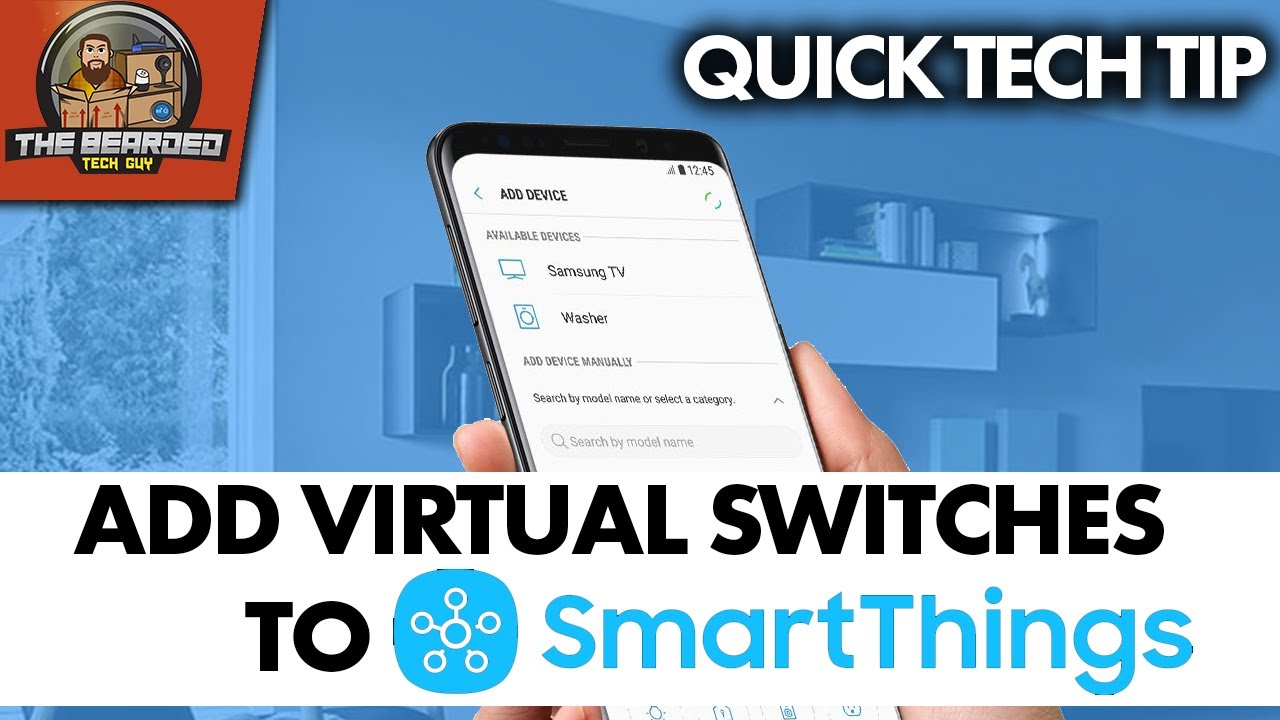 How To Create Virtual Switch in Samsung SmartThings for Home Automation Android OS ONLY