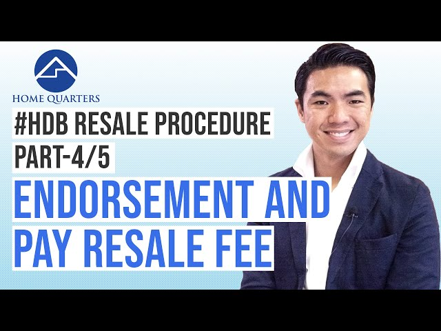Endorsement and Pay resale fee online | HDB Resale Flat Procedure Step-By-Step Guide Part 4/5