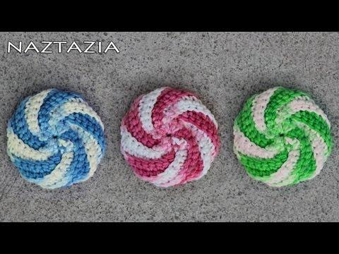 Crochet Patterns Only Spiral Scrubbie : Learn How to Crochet - Spiral Scrubbie Tutorial (Dishcloth Washcloth ...