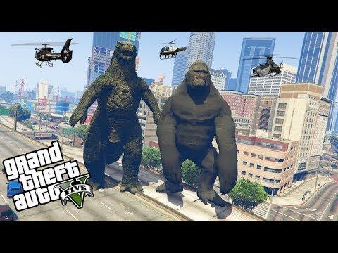 GTA 5: KING KONG VS GODZILLA