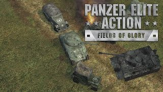 Panzer Elite Action: Fields of Glory (Original Xbox on Xbox One) - Title Screen / Attract Mode