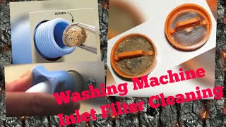 How to do Washing Machine water inlet filter cleaning