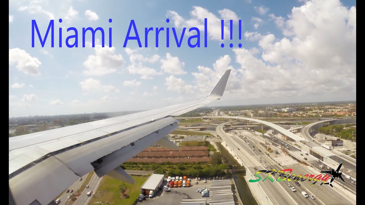 American Airlines 737-800 arrival @ Miami International ...