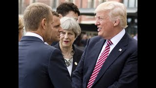 BREAKING CNN NEWS TRUMP-Macron calls on G7 members to confront Trump over trade