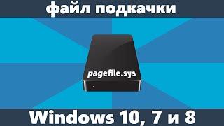 файл подкачки Windows 10, 8 и Windows 7