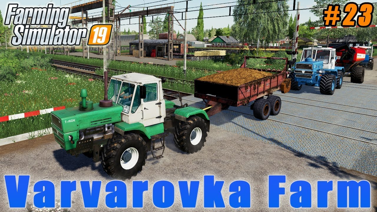 Collecting straw, fertilizer, cultivation, liming | Farming in Varvarovka | FS 19 | Timelapse #23
