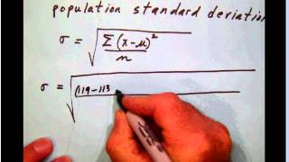 math_stats_B 012 Population standard deviation