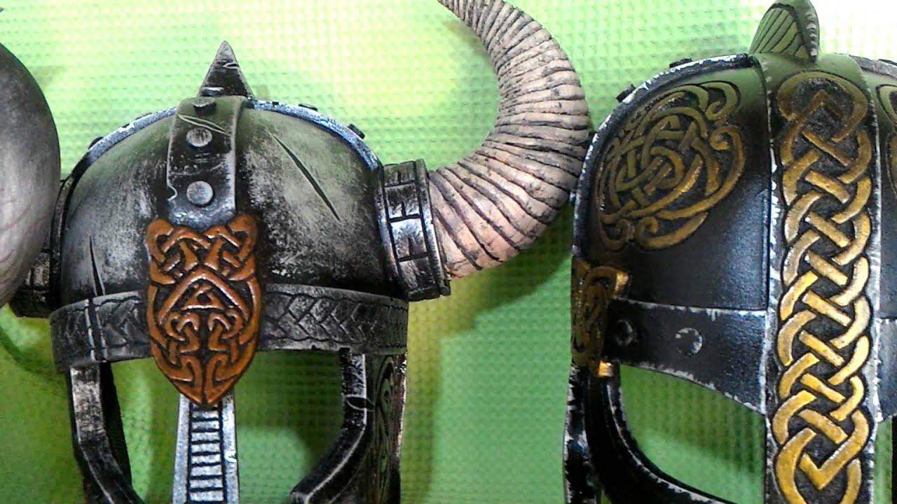 DIY Viking Helmet Props - YouTube
