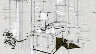 Video Tutorial - Hand Rendering, Make Perspective from Image, Office, 160212 download MP3, 3GP, MP4, WEBM, AVI, FLV Agustus 2018