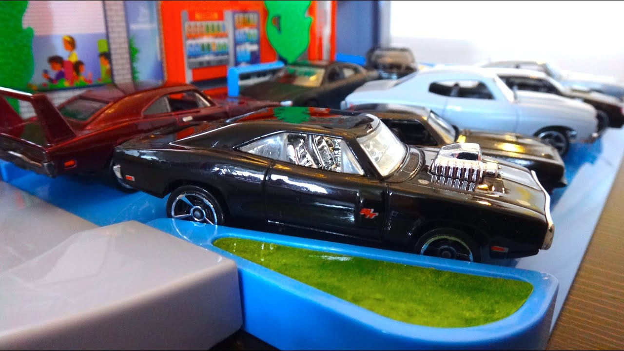 Cars That Start With J >> Dom's Fast & Furious Cars Collection - Hot Wheels on Tomica Playsets トミカ - YouTube