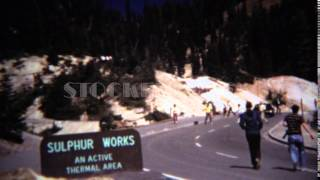 1971: Sulphur works active volcanic thermal area bubbling water. MINERAL, CALIFORNIA