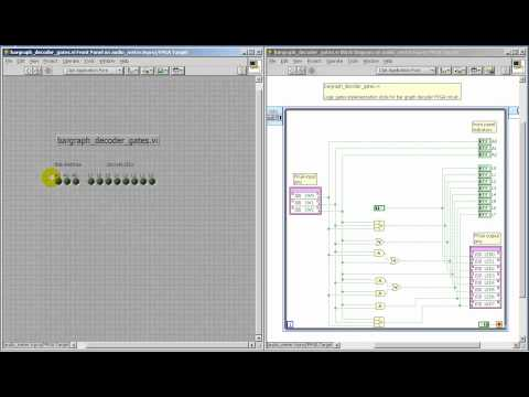 LabVIEW FPGA: Bar graph decoder -- logic gates