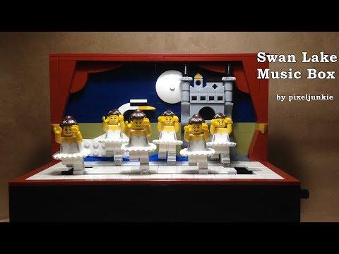 LEGO® Swan Lake Ballet Music Box Kinetic Sculpture (Group Dance)