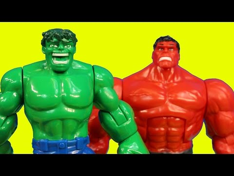 Thumbnail: Imaginext Joker Creates Robotic Red Hulk to Battle Batman Robin Spider-man Wolverine Thor