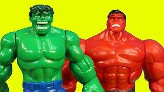 Imaginext Joker Creates Robotic Red Hulk to Battle Batman Robin Spider-man Wolverine Thor