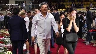 Thousands Say Goodbye To Kazakhstan