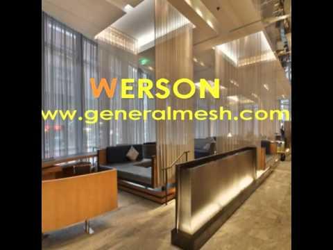 generalmesh Builders metallic mesh,METAL CURTAINING,Metal Mesh Drapery