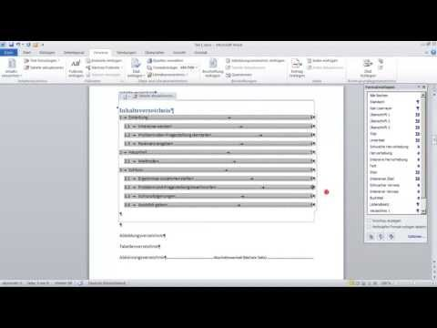 Wissenschaftliche Arbeit #2 Kapitelnummerierung Inhaltsverzeichnis (1) mit Word 2010 formatieren