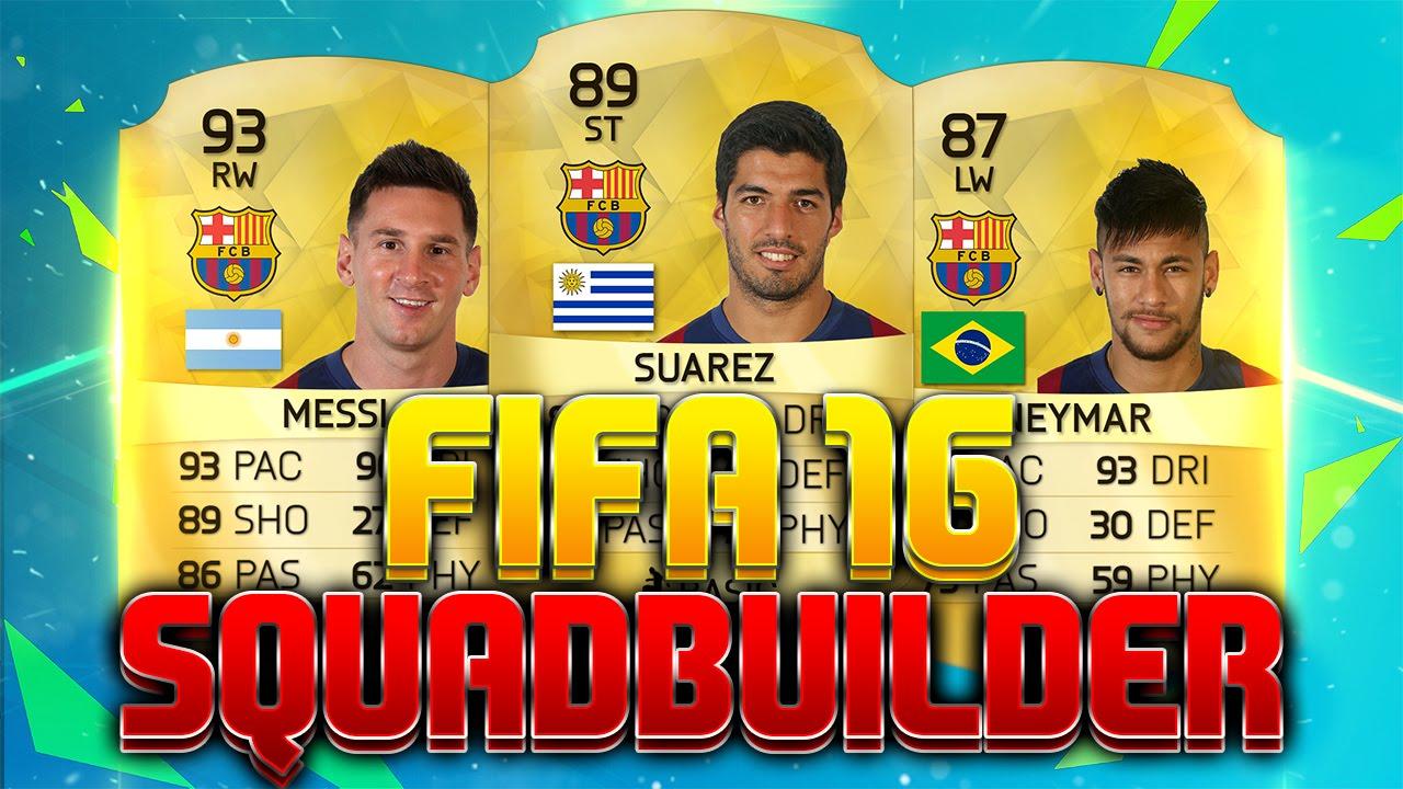 Fifa 16 Squads