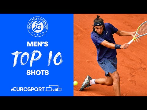 Top 10 Men's Shots | 2021 Roland Garros | Tennis | Eurosport