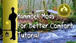 Hammock mods that give a superior comfort and sleep/ tutorial