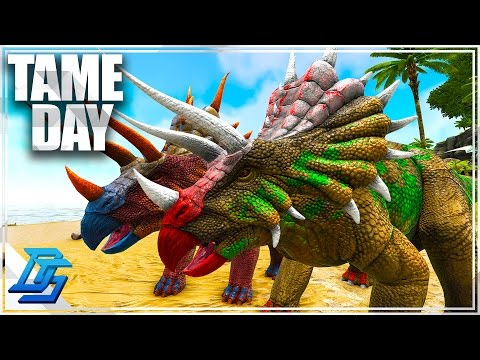 Learning Pugnacia , Tame Day!  - Ark Survival Evolved - Pt 3