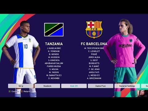PES 2021 - TANZANIA vs FC BARCELONA - Experiment Match - Gameplay PC