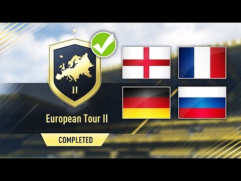 EUROPEAN TOUR 2 SBC *CHEAP AND EASY* COMPLETED! - FIFA 17 SQUAD BUILDING CHALLENGE
