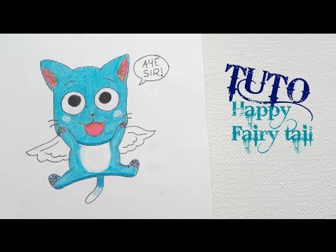 Tuto dessiner happy chat de fairy tail youtube - Dessiner fairy tail ...