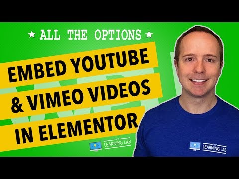 Elementor Video Player - How To Integrate YouTube And Vimeo Videos
