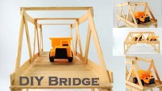 I make this bridge fom popsicle sticks, it spend 62 sticks. Thanks for watching. Music by: Bensound.com.