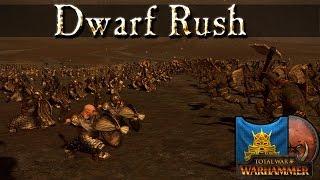 Dwarf Rush Tactics - Dwarfs vs Greenskins -  Total War Warhammer Battle