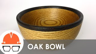 Turning A Red Oak And Wenge Bowl On The Lathe